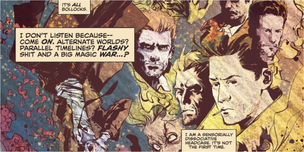 John Constantine  Viñeta del cómic  keanu reeves ahora es canon en dc comic
