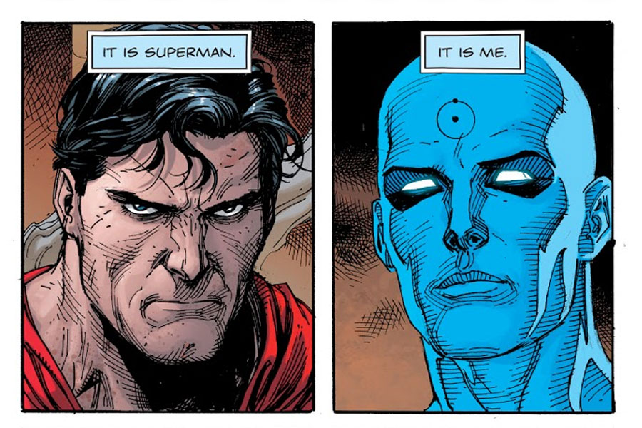 Superman y el Dr. Manhattan doomsday clock