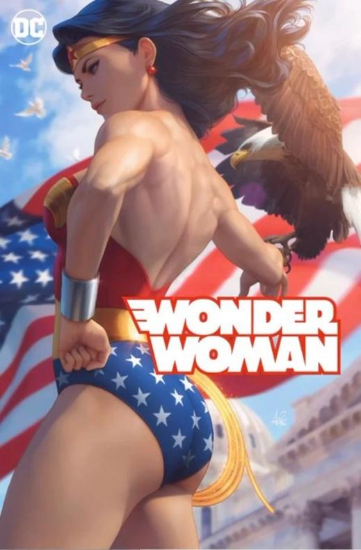 impresionante portada para  Wonder Woman #750