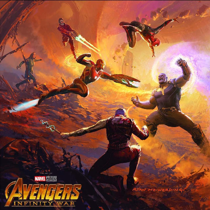 Avengers Infinity War Art spider man salva a los guardianes